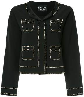 Moschino stud embellished jacket