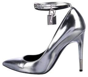 Tom Ford Padlock Ankle Strap Pumps