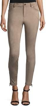 Bagatelle Five-Pocket Faux-Suede Skinny Pants