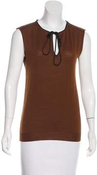 Lanvin Sleeveless Wool Knit Top