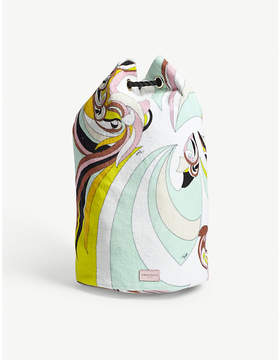 Emilio Pucci Printed cotton duffle bag