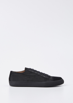 Dries Van Noten Black Suede Low Top Sneaker