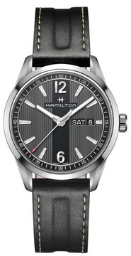Hamilton Men's American Classic Broadway Leather Strap Watch, 40Mm