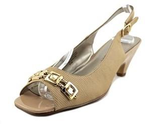 Karen Scott Analese Open-toe Synthetic Slingback Heel.