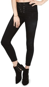 Amuse Society Women's Soho Lace-Up Skinny Jeans