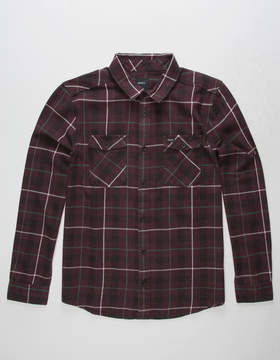RVCA Treets Plum Mens Flannel Shirt
