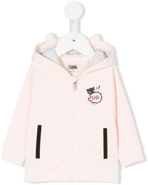 Karl Lagerfeld graphic print zip up hoodie
