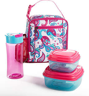 Fit & Fresh Pink Peacock Paisley Scout Lunch Set