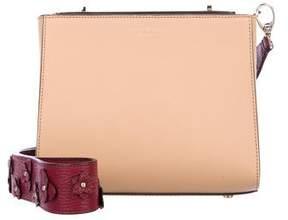 Henri Bendel Leather Turn-Lock Bag
