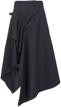 3.1 Phillip Lim Pinstripe Handkerchief Belted Skirt
