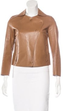Tod's Leather Cutout Jacket
