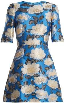 Dolce & Gabbana Floral-jacquard silk-blend dress