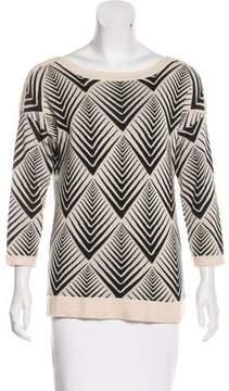 White + Warren Patterned Knit Sweater