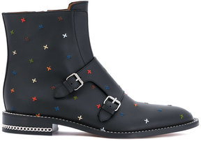 Givenchy multicolour embroidery buckle boots