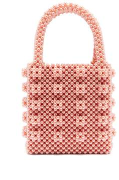 Antonia Faux Pearl Embellished Bag – Womens – Pink