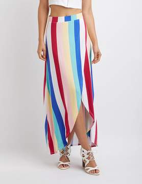 Charlotte Russe Striped Wrap Maxi Skirt