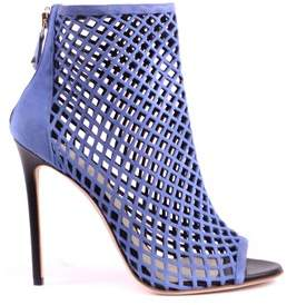 Grey Mer Greymer Women's Blue Leather Heels.