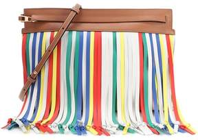 Loewe T Pouch Fringes leather crossbody bag
