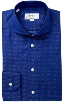 Eton Polka Dot Contemporary Fit Dress Shirt