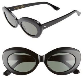 Raen Women's X Alex Knost Luxury Wig Ashtray 53Mm Sunglasses - Black/ Black