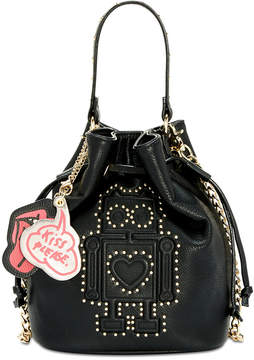 Betsey Johnson Studded Robot Mini Crossbody Bucket Bag