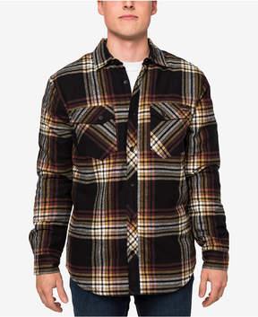 O'Neill Men's Hueneme Sherpa-Lined Plaid Flannel Shirt