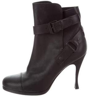 Balenciaga Leather Buckle Ankle Boots
