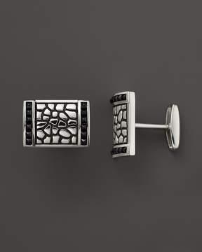 Bloomingdale's J. Goodman Sterling Silver Black Spinel Cufflinks