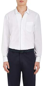 Officine Generale Men's Piped Cotton Poplin Shirt