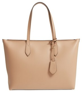Burberry Calfskin Leather Tote - Beige - BEIGE - STYLE