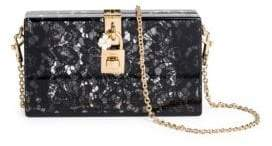 Dolce & Gabbana Lace Box Bag - BLACK - STYLE