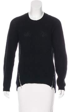 Autumn Cashmere Zip-Accented Knit Sweater