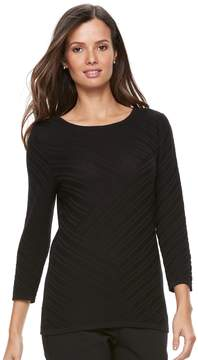 Dana Buchman Women's Diagonal Stripe Sweater