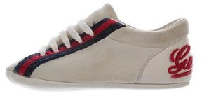 Gucci Boys' Web-Trimmed Suede Sneakers