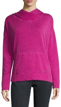 Betsey Johnson Women's Cotton Hooded Split Hem Sweater