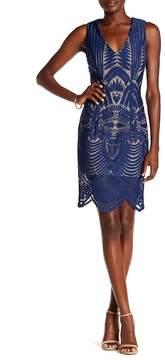 ABS by Allen Schwartz Collection V-Neck Sleeveless Pattern Dress