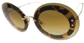 Miu Miu Mu10r Sunglasses Color 7s0-1g0 Light Havana & Gold Size 64mm