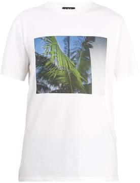 A.P.C. Palm tree-print cotton T-shirt