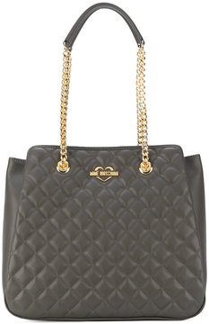 Love Moschino double-chain quilted shoulder bag
