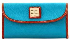 Dooney & Bourke Pebble Grain Continental Clutch Wallet - TURQUOISE - STYLE