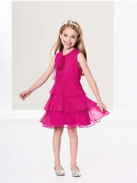 Oscar de la Renta Kids Kids | Tiered Silk-Chiffon Bow Dress | 4 years