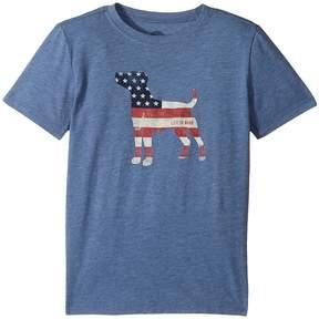 Life is Good Dog Flag Cool T-Shirt Boy's T Shirt