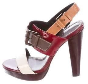 Barbara Bui Patent Leather Platform Sandals