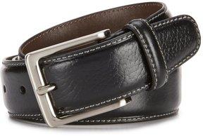 Daniel Cremieux Pebble Contrast Stitch Leather Belt