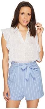 Bishop + Young Chloe Print Ruffle Top Women's Clothing