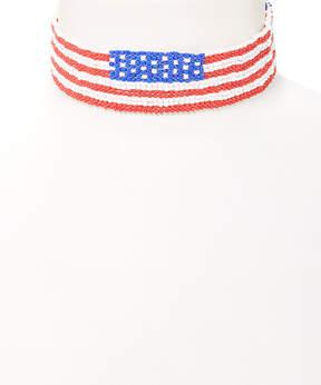 Carole Stars & Stripes Choker Necklace