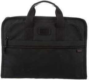 Tumi Leather-Trimmed Nylon Satchel