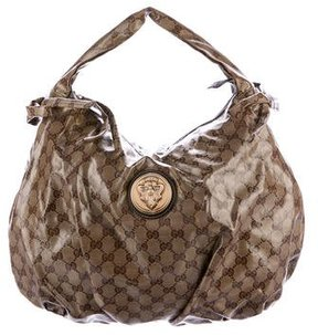 Gucci GG Crystal Hysteria Hobo - BROWN - STYLE