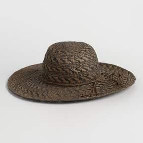 World Market Brown Chevron Sun Hat