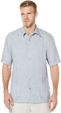Cubavera Big & Tall 100% Linen Short Sleeve No Pocket Guayabera